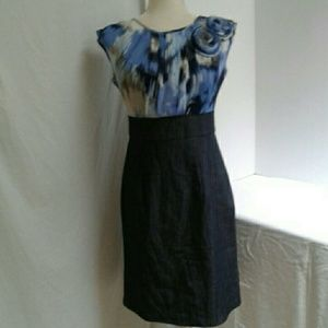 Nwt Dressbarn women's Blue Summer Dress 4